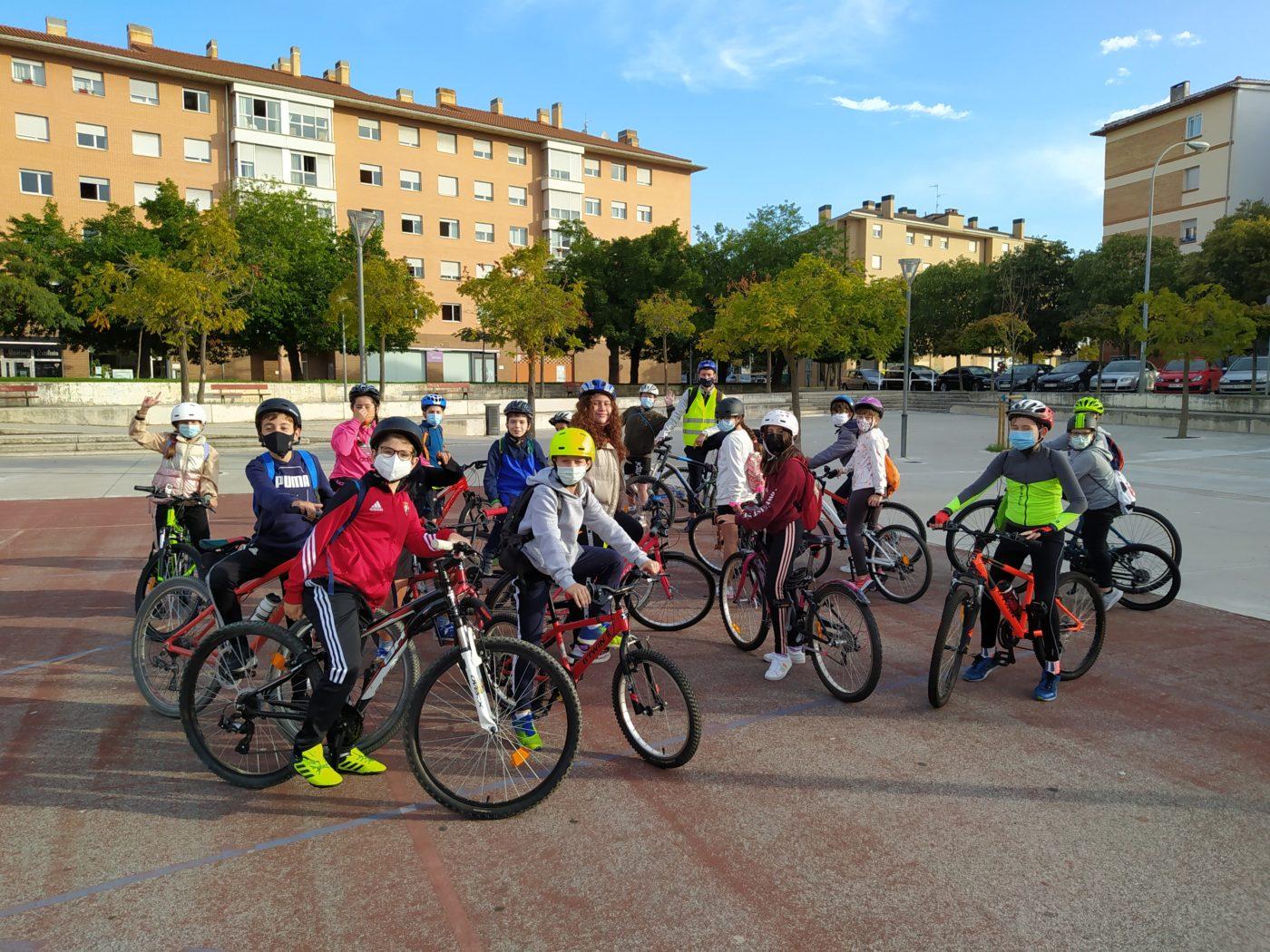 Bicicletada en la «Semana de la movilidad».